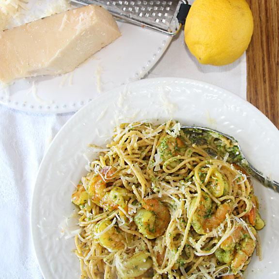Lemon Balm Pesto Served