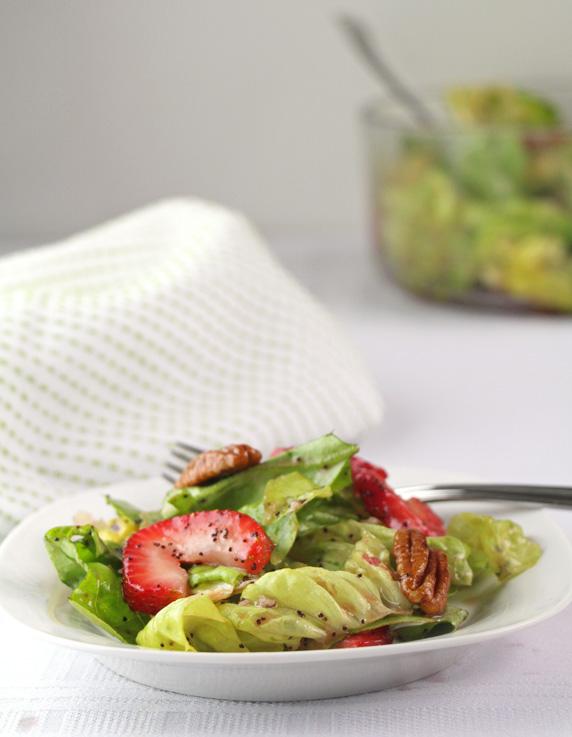 Butter Lettuce Strawberry Salad, served