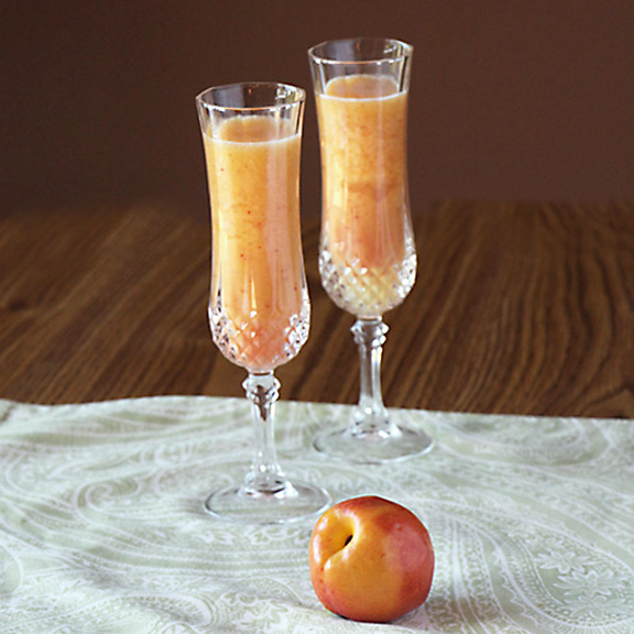 Two Peach Bellinis