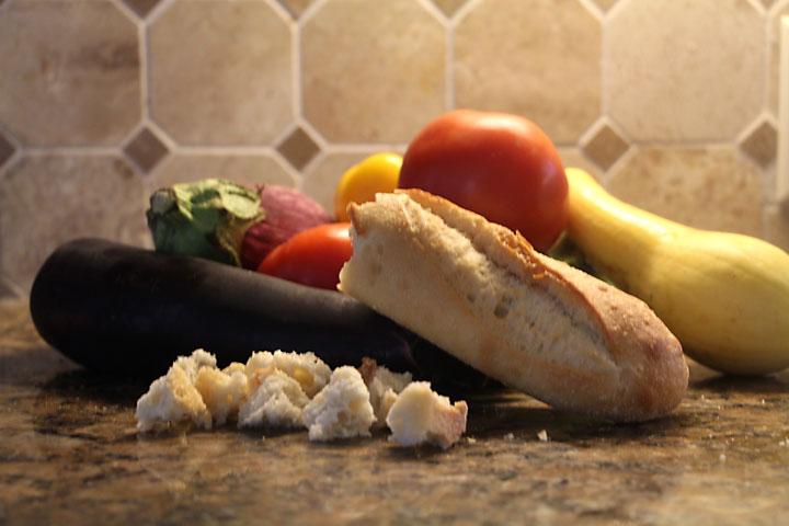 Grilled Vegetable, Bread & Tomato Salad (Panzanella) Ingredients