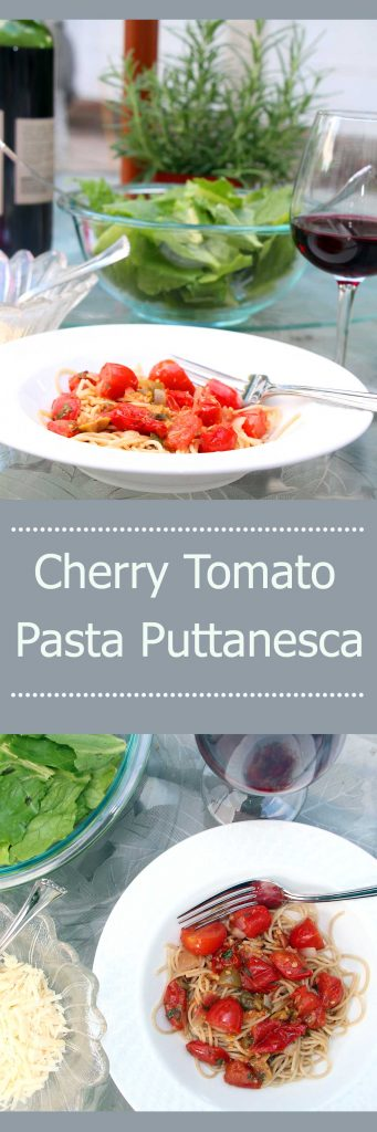 A classic goes seasonal with quick Cherry Tomato Pasta Puttanesca
