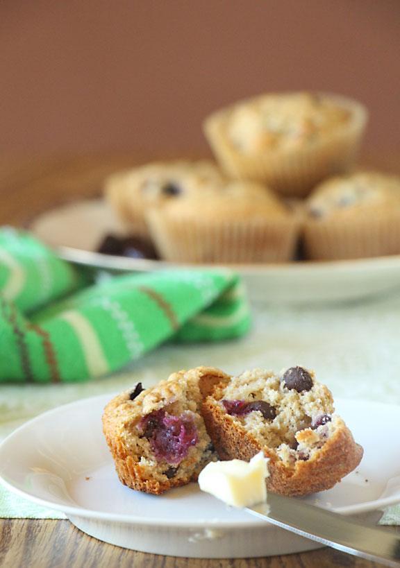 Chocolate Covered Cherry Muffins