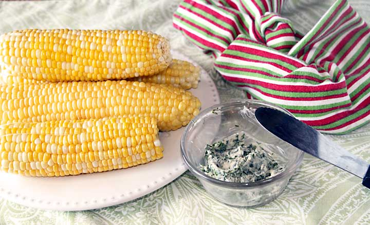 Herb Buttered Corn on the Cob served