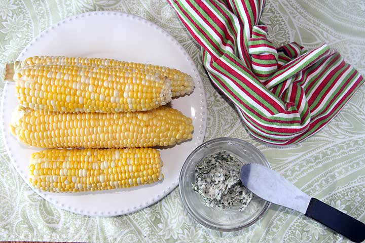 Herb Buttered Corn on the Cob from above