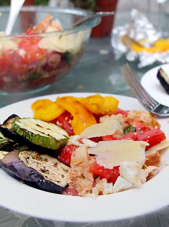 Grilled Vegetable, Bread & Tomato Salad (Panzanella)