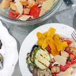 Grilled Vegetable, Bread & Tomato Salad (Panzanella) from above