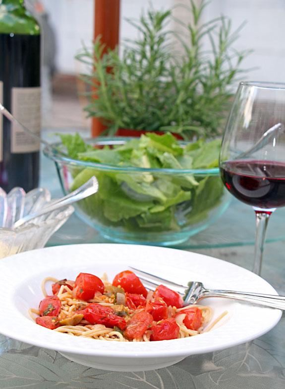 Cherry Tomato Pasta Puttanesca