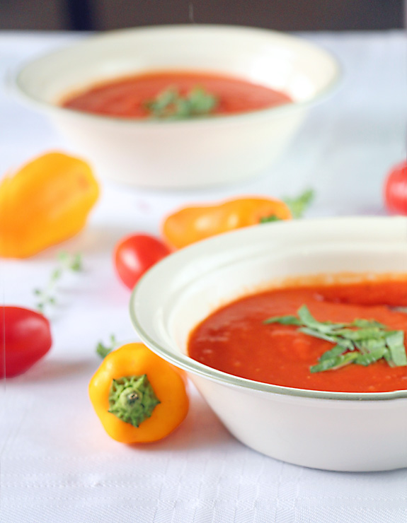 Roasted Tomato Red Pepper Soup