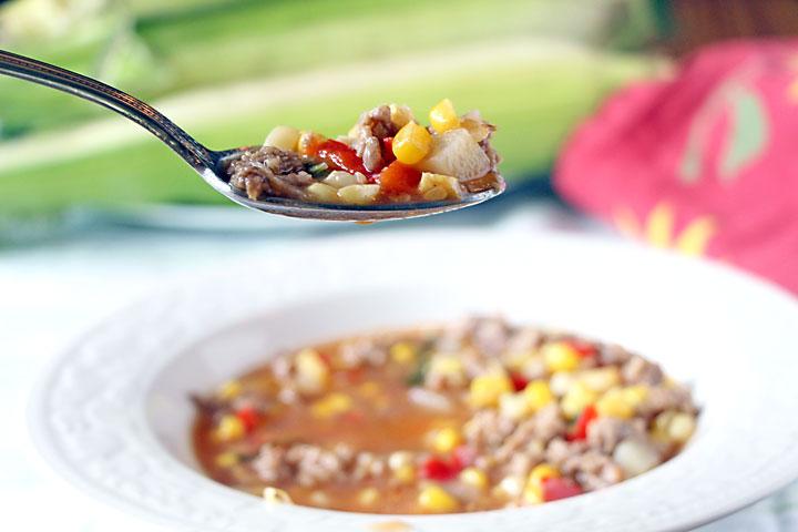A bite of Iowa BBQ Soup