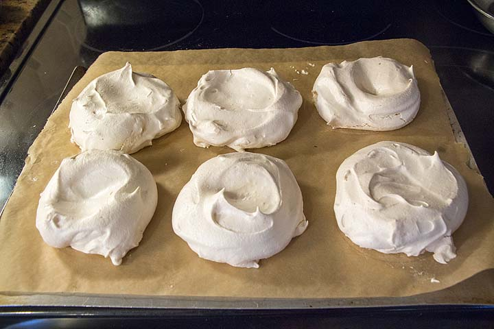 Bake meringue about an hour