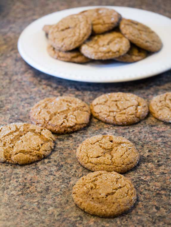 Easy Gluten Free Molasses Cookies - made with chickpea flour