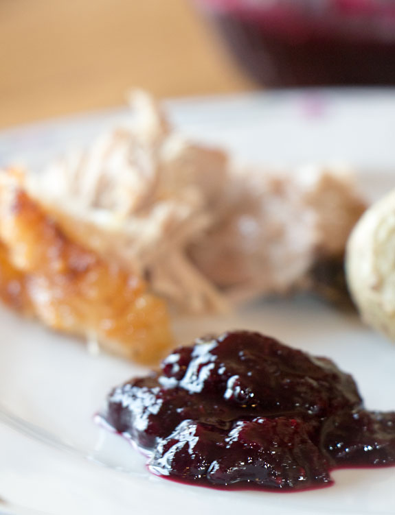 Blueberry Cranberry Sauce - delicious with pork