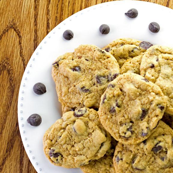 Gluten Free Chocolate Chip Cookies served