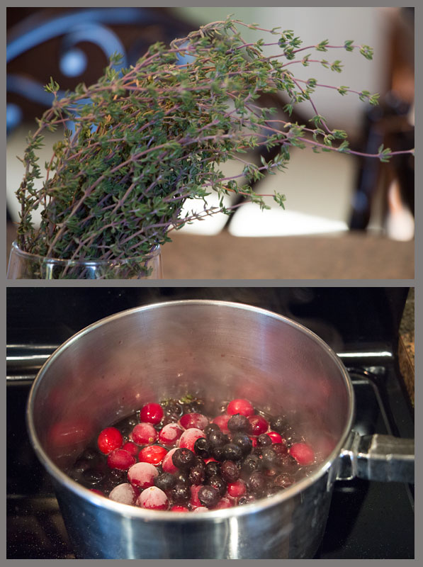 Super easy to make Blueberry Cranberry Sauce