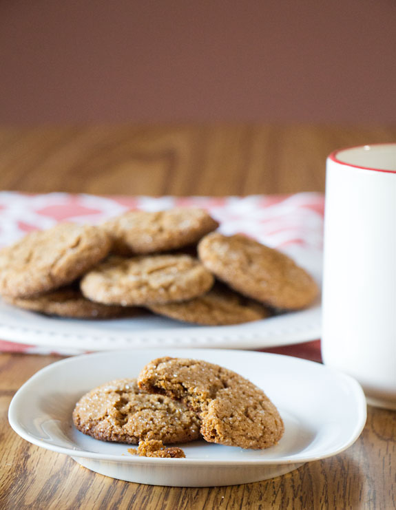 Easy Gluten Free Molasses Cookies - great with milk or coffee