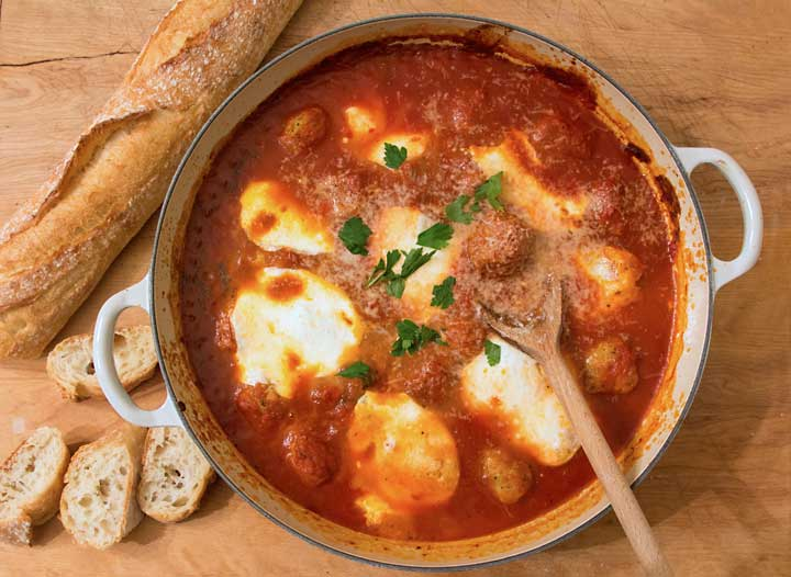 Easy Meatball & Mozzarella Appetizer