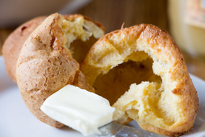 Blender popovers bake while you prepare the rest of the meal and are easy, tasty and healthier with half while whole wheat flour!