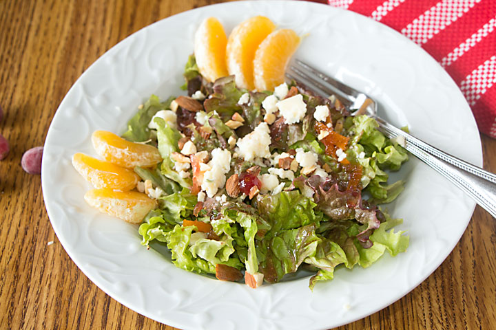 Citrus Salad with Blue Cheese is sweet & bright for winter. And with lettuce, fruit & cheese, it's extra healthy when it counts!