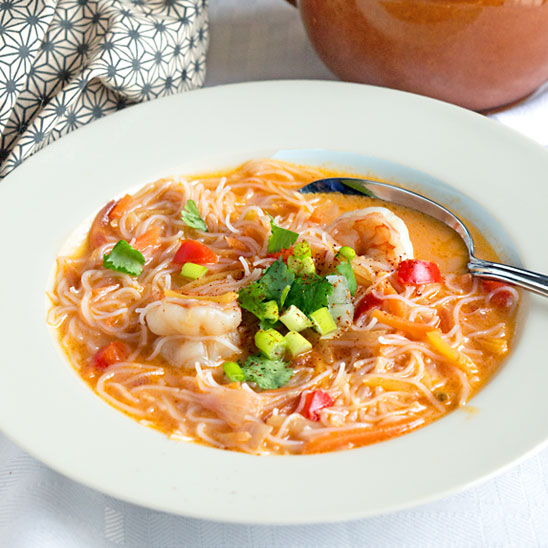 Thai Shrimp Soup (with Extra Carrots–shh)
