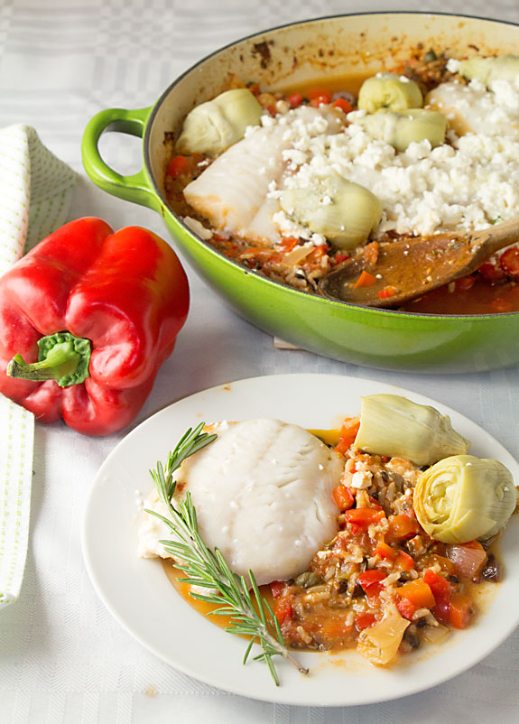 With tomatoes, artichokes & red peppers, Mediterranean White Fish is full of wholesome veggies. Along with healthy fish & tasty herbs, olives & capers.
