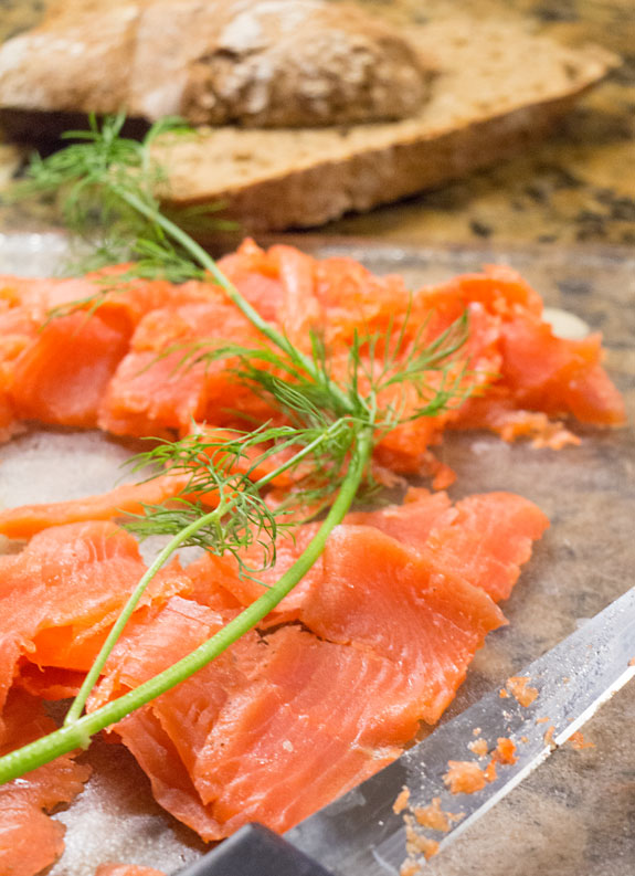 Home cured gravlax is delicious and a better value than heading to the deli. And it is super easy with this step by step guide.