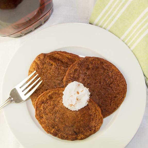Blender Sweet Potato Pancakes