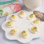 With tangy feta cheese and savory dill, Greek Deviled Eggs will be the hit of your next brunch or picnic. Perfect for Easter of Mother's Day!