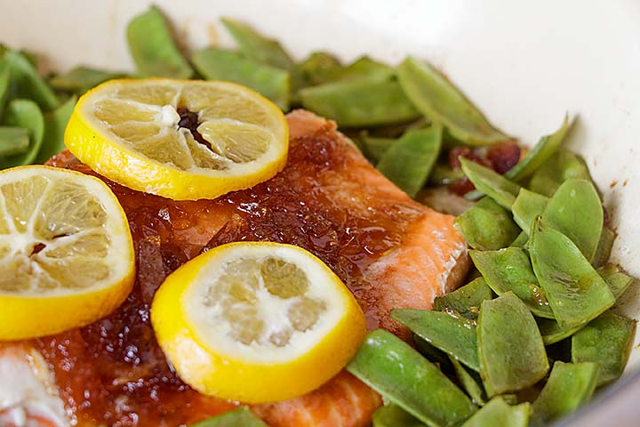 When you want something fancier than plain broiled salmon--but it needs to be just as easy, 4 ingredient Orange Glazed Salmon is perfect!