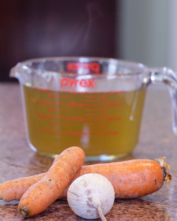 Homemade vegetable broth can be made using ingredients you may have on hand--and it tastes as good as expensive chicken broth in most recipes!