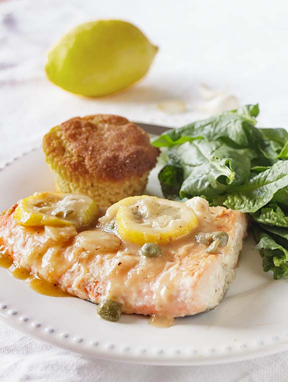 With a mellow garlic flavor, rich sauce and lemon-y brightness--not to mention healthy omega-3, Lemon Garlic Salmon is a winner.