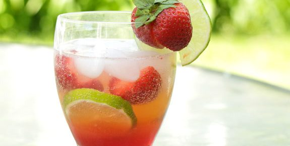 Sparkling Strawberry Limeade