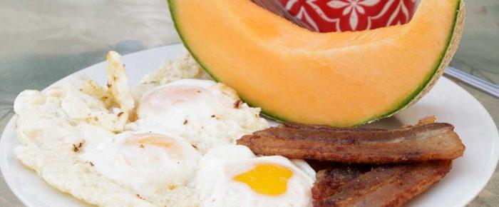 Golden Sunny Side Up Fried Egg