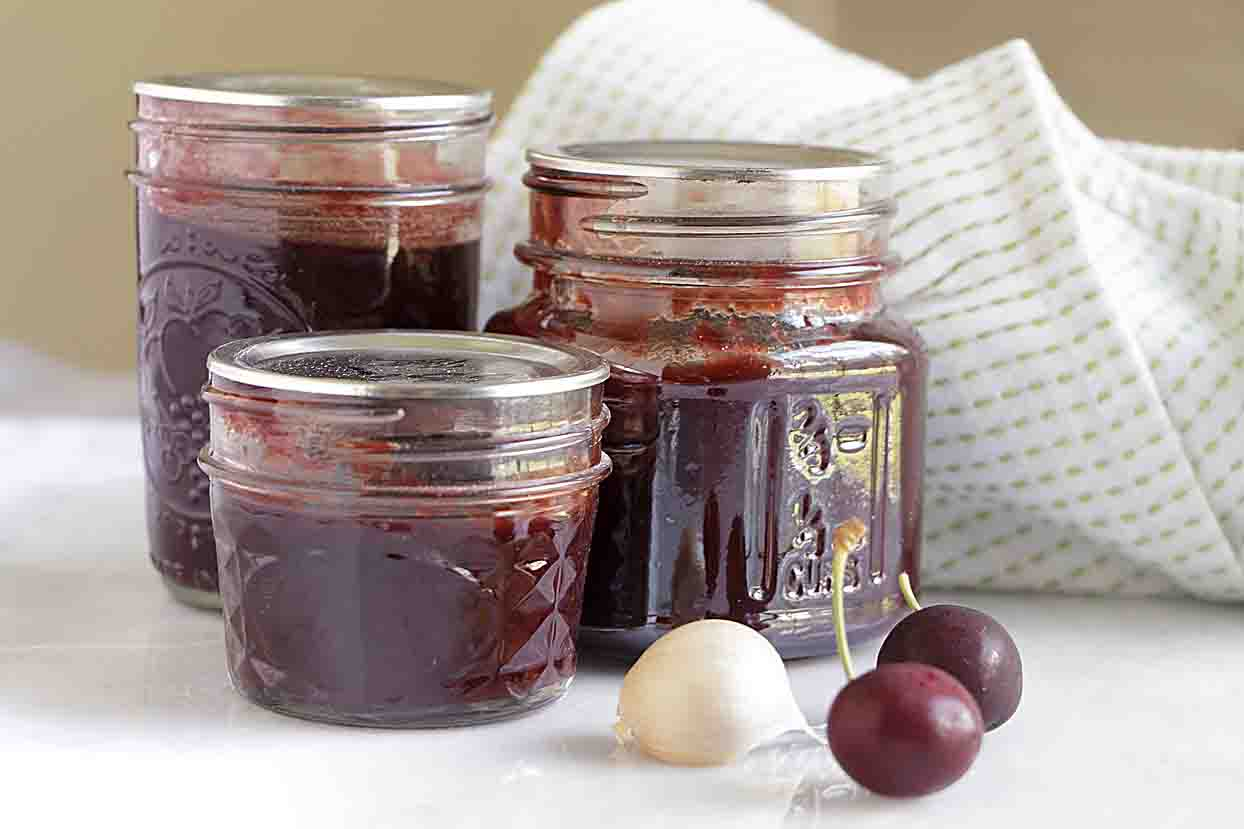 Who'd of thought that homemade cherry bbq sauce--sweet-spicy and full of flavor, would be so good you'd want to eat it with a spoon!