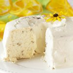 Lavender Vanilla Angel Food Cake