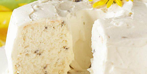 Lavender Vanilla Angel Food Cake