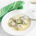 Greek Meatballs in Egg Lemon Broth