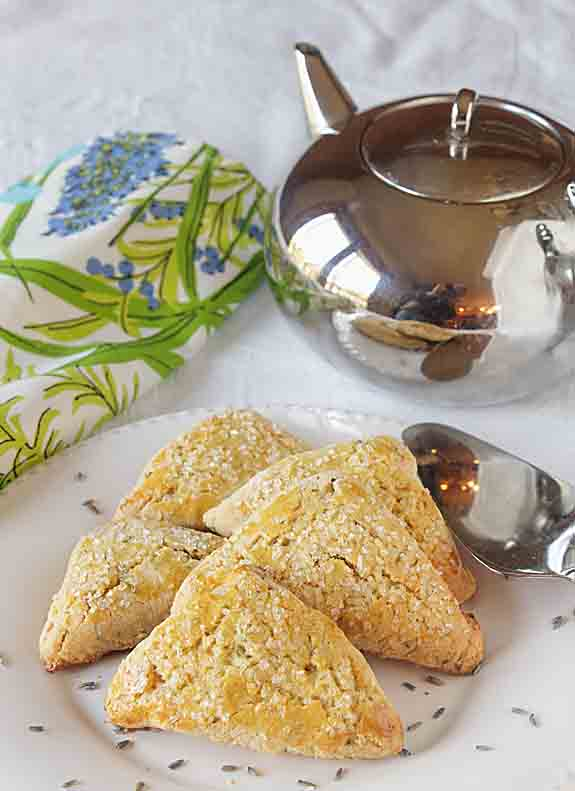 Flakey & slightly sweet, with delicate floral overtones, Honey Lavender Scones are perfect with tea or as part of a special brunch.