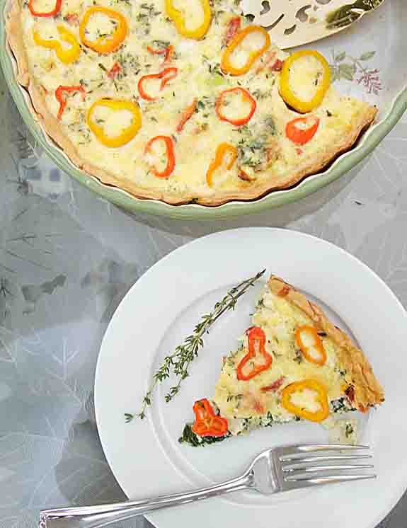 With the flavor & vibrant color of mini-peppers, plus tasty spinach & cheese, Mini-Pepper & Spinach Quiche is perfect for brunch--or for dinner.