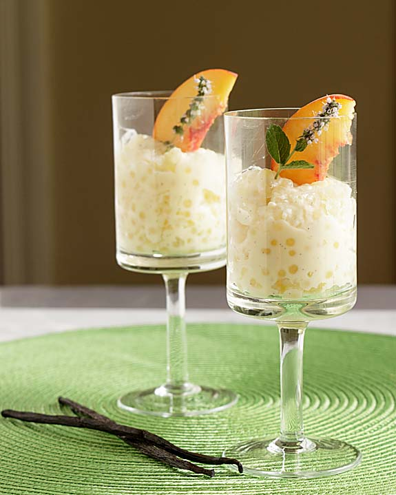 Creamy, rich and full of vanilla flavor, and studded with small [chewy] pearls, tapioca pudding is an old classic that is just as good today.