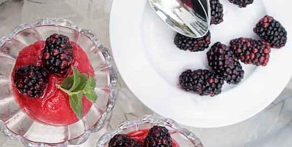Refreshing Raspberry Rosé Sorbet