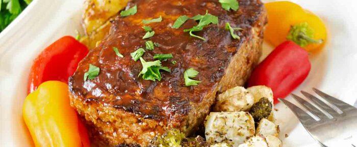Balsamic Glazed Pork Meatloaf
