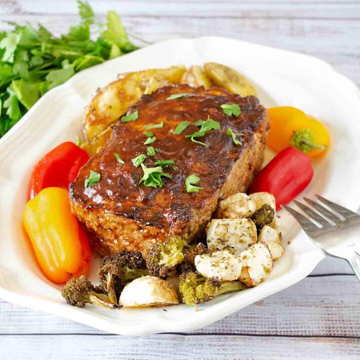 Balsamic Glazed Meatloaf