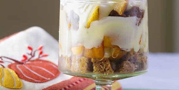 Pumpkin Pear Trifle with Maple Custard