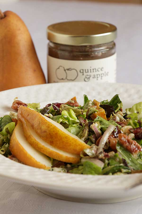 With dried cranberries, roasted sweet potato and pecans this holiday chopped salad is tasty, festive and healthy. And did I mention easy?