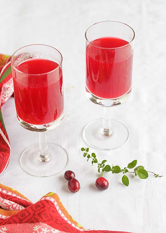 Homemade Cranberry Juice for Two