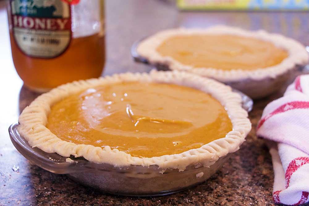 Honey Sweet Potato Pie, ready for the oven