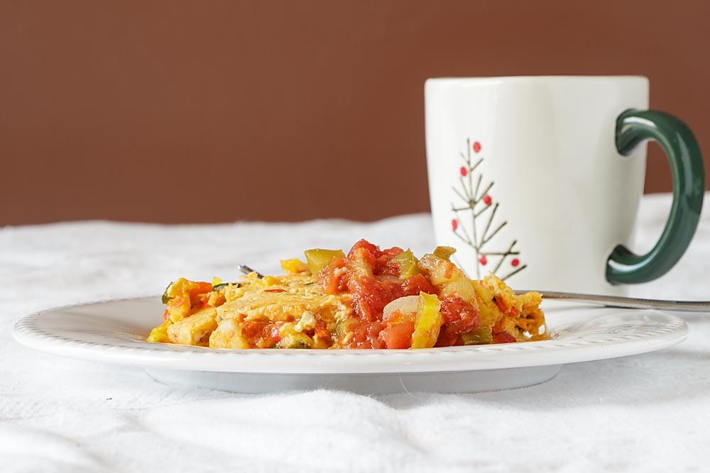 This Spanish Omelet makes an inspiring and easy breakfast. And it's zero points for Weight Watchers–hooray!