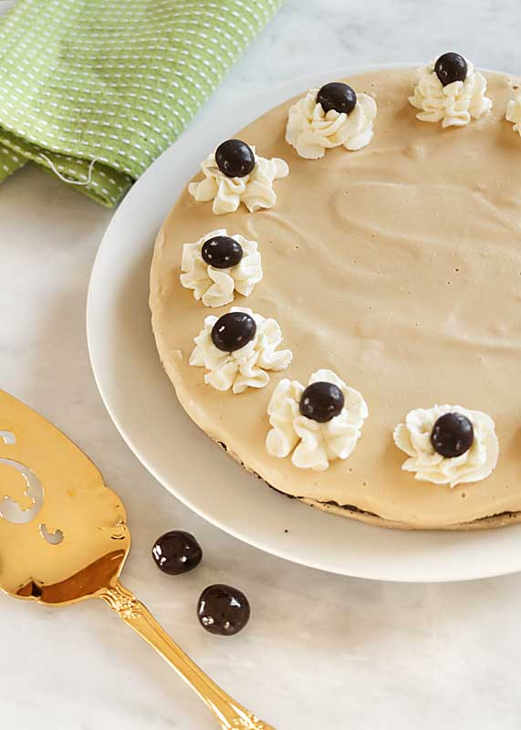Rich Coffee Ice Cream flavored with smooth Irish Whiskey and set into a chocolate cookie crust, Irish Coffee Ice Cream Pie may be the hit of your St Patrick's Day!