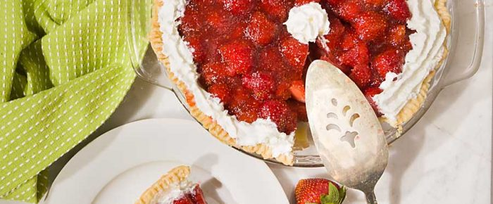 Low Sugar Fresh Strawberry Pie