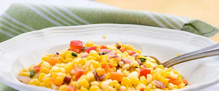 Confetti Corn with Peppers and Herbs